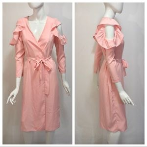 Topshop Dresses - Topshop Shoulder Peek Pink V Neck Dress